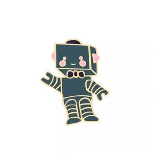 Jewelry - 4/$20 Cute Friendly Robot Enamel Brooch Pin
